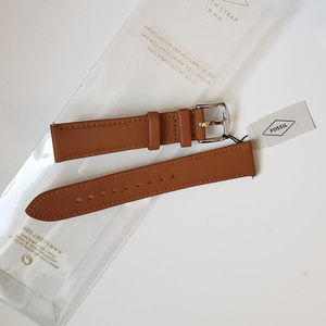 """Fossil 18"""" Watch Strap Genuine Leather Tan Natural"""